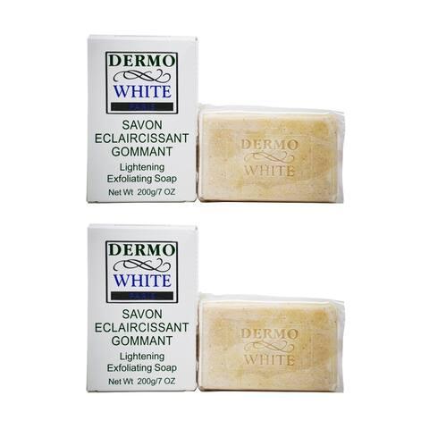Dermo White Paris Lightening Exfoliating Soap 200g/7oz (Pack of 2)