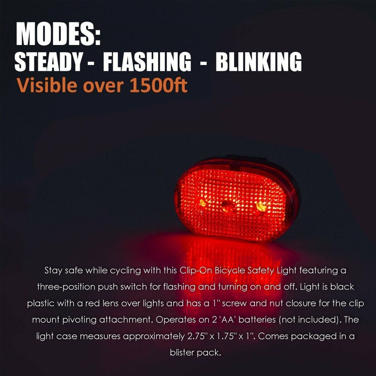 LED Bike Bicycle Front Rear Lights Set Push Cycle Clip Light Alarm Tail Light lx