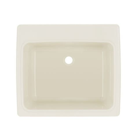 Swan 22-in D x 25-in W x 13.5625-in H Solid Surface Utility Sink