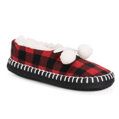 Womens Pom Ballerina Slippers