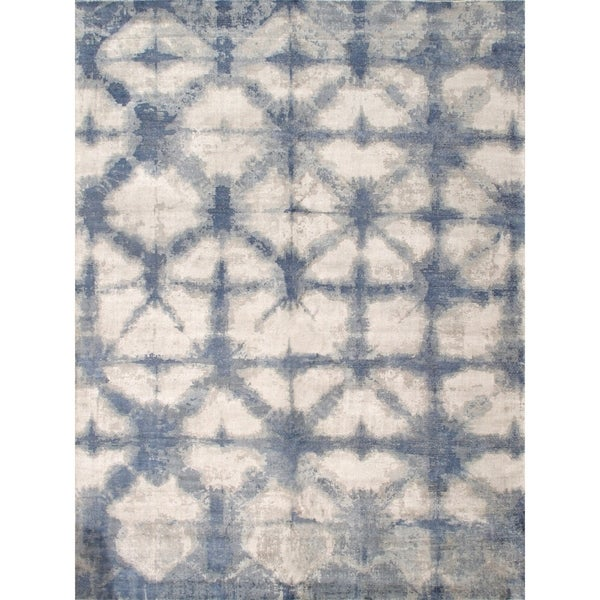 Pasargad Home Shibori Collection Hand-Loomed Silk & Wool Area Rug
