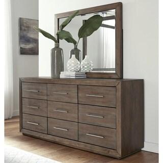 Carbon Loft Carnegie Nine-drawer Dresser in Dark Pine