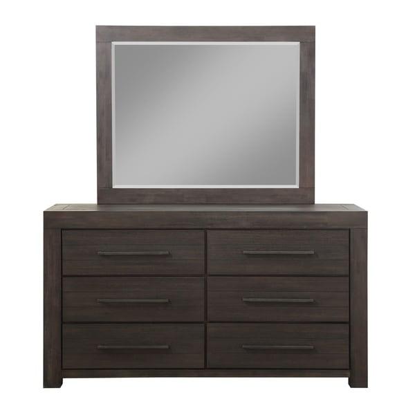 Carbon Loft Boa Six-drawer Dresser in Basalt Grey