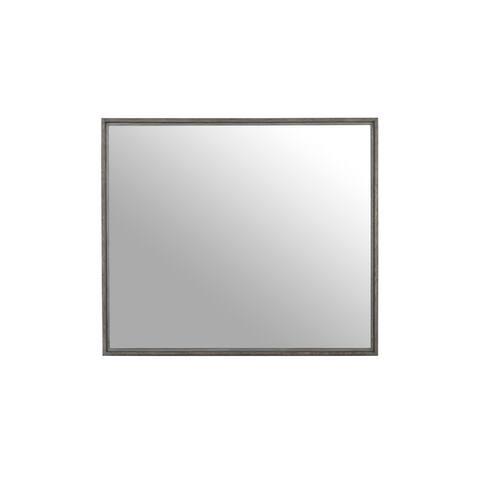 Carson Carrington Solid Wood Beveled Glass Mirror