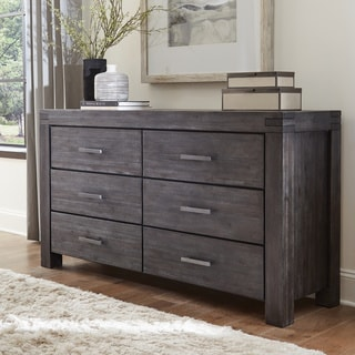 Carbon Loft Melbury Six-drawer Solid Wood Dresser in Graphite