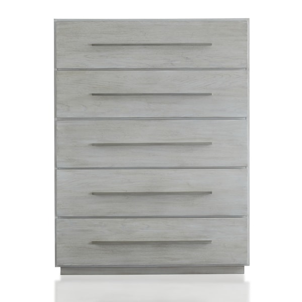 Destination Five Drawer Chest in Cotton Grey