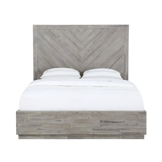 Link to The Gray Barn Daybreak Full-size Solid Wood Platform Bed in Rustic Latte Similar Items in Bedroom Furniture
