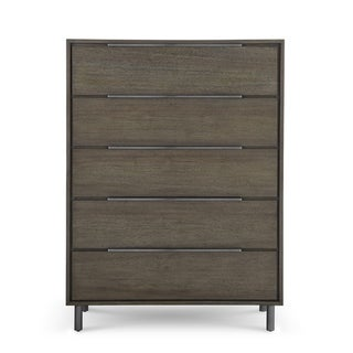 Carson Carrington Tandla Butcher Block 5-drawer Chest