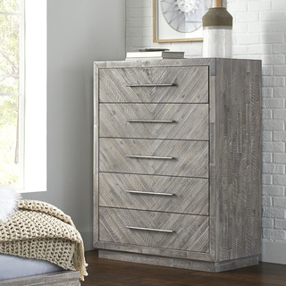 The Gray Barn Daybreak Solid Wood 5-drawer Chest in Rustic Latte