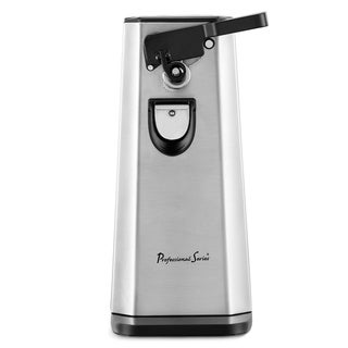 Stainless Steel Electric Can Opener, with Bottle Opener