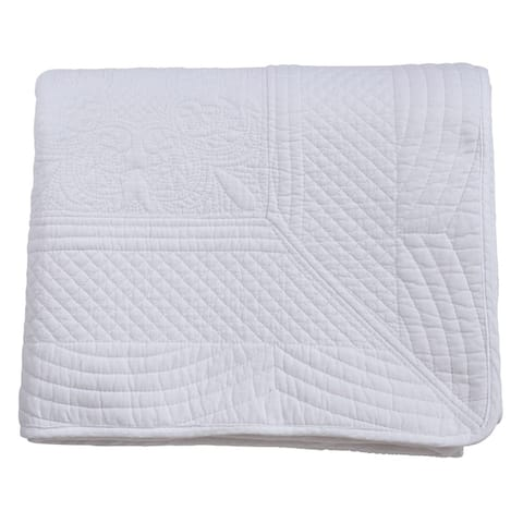 Cotton Quilted Design Throw Blanket