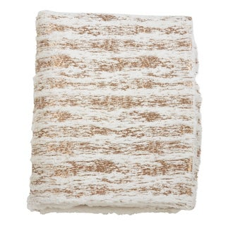 Link to Faux Fur Throw With Foil Print Design Similar Items in Blankets & Throws