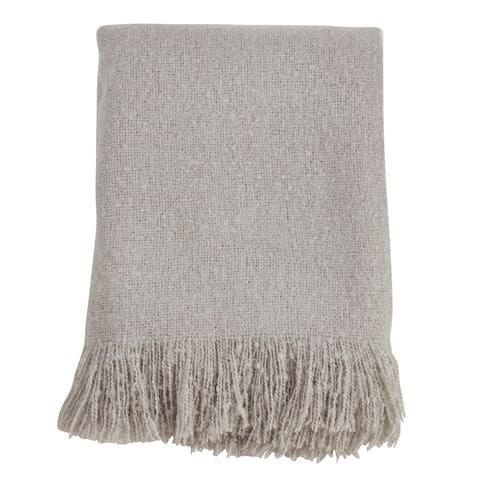 Faux Mohair Design Throw Blanket