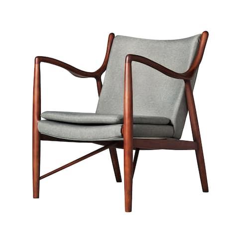 Carson Carrington Hogby Light Grey Walnut Frame Chair