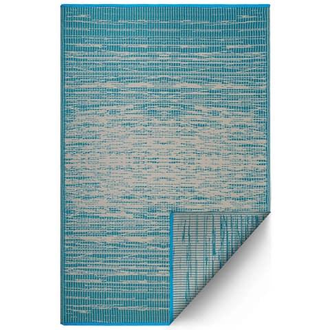 Handmade Brooklyn Teal Rug (India) - 8' x 10'