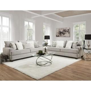Frolic Dove Grey Sofa & Loveseat Set