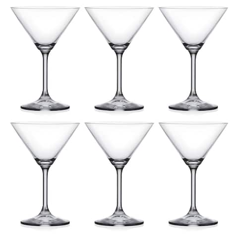Majestic Gifts Inc. Set of 6 Classic Clear Martini Glass-7.5 oz.