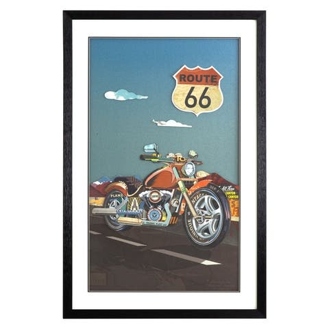 Motorcycle on Route 66