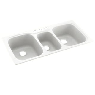 Link to Swan 44-in W x 22-in L x 9.5-in D Solid Surface Dual Mount Triple Bowl Kitchen Sink with 3-Hole Similar Items in Sinks