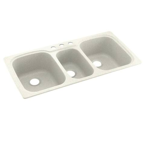 Swan Solid Surface Triple Bowl Kitchen Sink