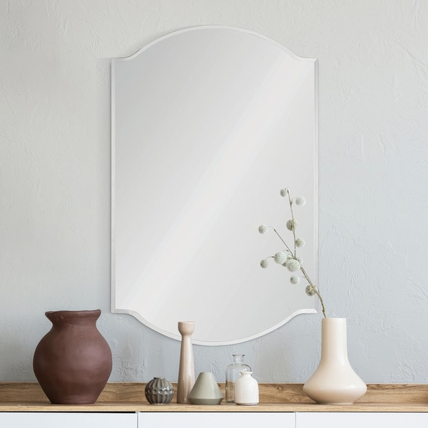 Carson Carrington Hjuljern Traditional Unframed All Glass Mirror