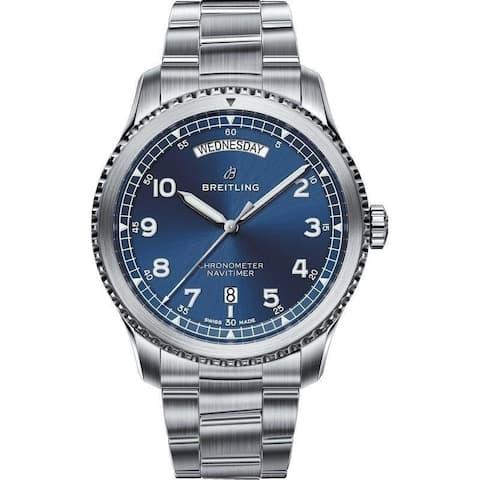 Breitling Men's A4533010-CA10-187A 'Navitimer 8' Stainless Steel Watch