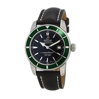 Link to Breitling Men's A1732136-BA61-435X 'Superocean Heritage 42' Automatic Black Leather Watch Similar Items in Men's Watches