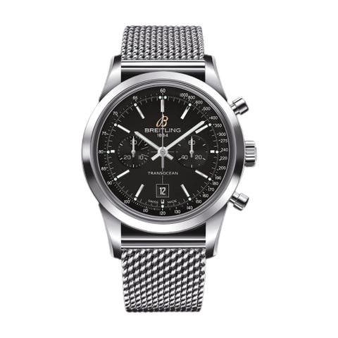Breitling Men's A4131012-BC06-171A 'Transocean' Chronograph Stainless Steel Watch