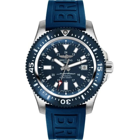 Breitling Men's Y1739316-C959-158S 'Superocean 44 Special' Automatic Blue Rubber Watch