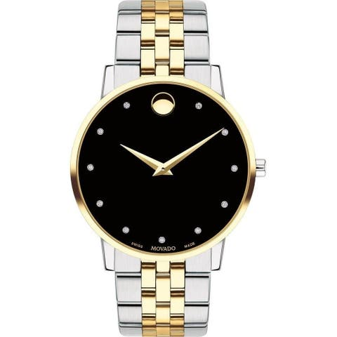 Movado Men's 0607202 'Museum' Diamond Automatic Two Tone Stainless Steel Watch