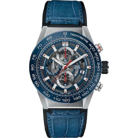 Tag Heuer Men's CAR201T.FC6406 'Carrera' Chronograph Blue Rubber Watch