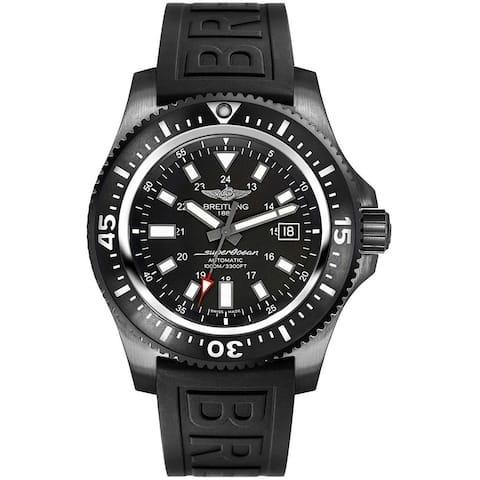 Breitling Men's M1739313-BE92-152S 'Superocean 44' Black Rubber Watch