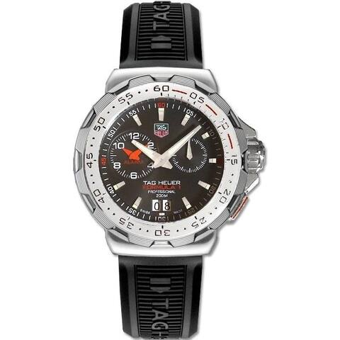 Tag Heuer Men's WAH111C.FT6024 'Formula 1' Alarm Black Rubber Watch