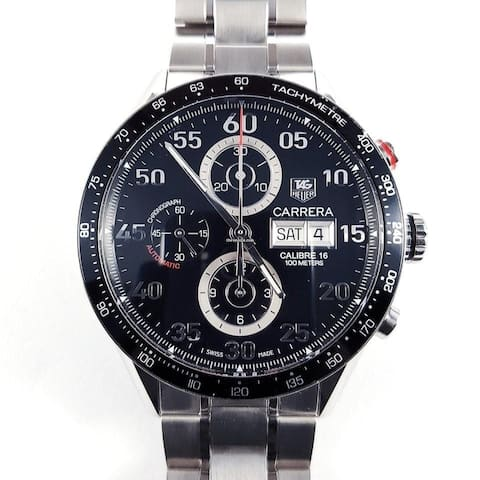 Tag Heuer Men's CV2A10.BA0799 'Carrera' Chronograph Automatic Black Stainless Steel Watch
