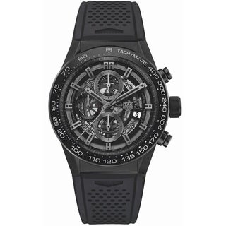 Link to Tag Heuer Men's CAR2A90.FT6071 'Carrera' Chronograph Black Rubber Watch Similar Items in Women's Watches