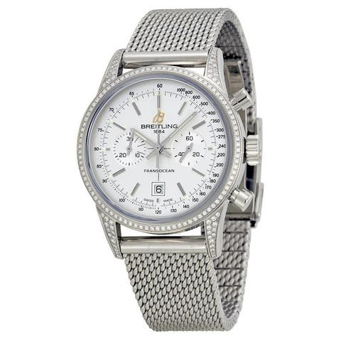 Breitling Unisex A4131063-G757-171A 'Transocean' Chronograph Stainless Steel Watch