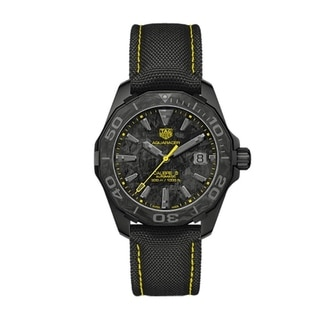 Link to Tag Heuer Men's WBD218B.FC6446 'Aquaracer' Black Nylon Watch Similar Items in Men's Watches