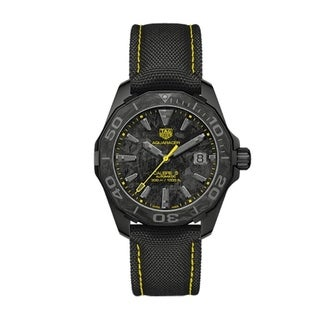 Link to Tag Heuer Men's WBD218B.FC6446 'Aquaracer' Black Nylon Watch Similar Items in Women's Watches