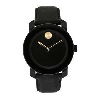 Link to Movado Men's 3600480 'Bold' Black Leather Watch Similar Items in Men's Watches