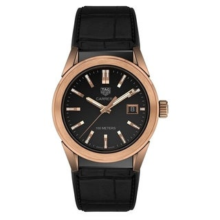 Link to Tag Heuer Women's WBG1351.FC6418 'Carrera' Black Leather, Rubber Watch Similar Items in Women's Watches