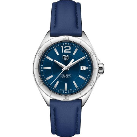 Tag Heuer Women's WBJ1312.FC8231 'Formula 1' Blue Leather Watch