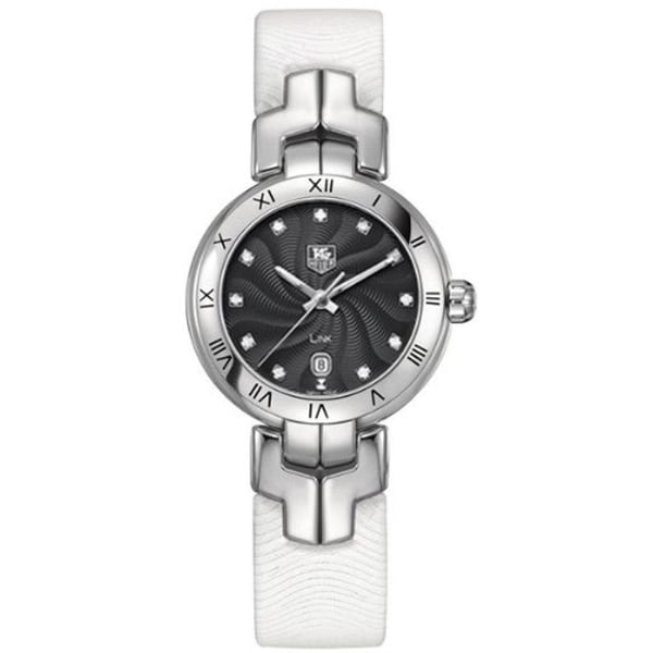 Tag Heuer Women's WAT1410.FC6316 'Link' White Leather Watch. Opens flyout.