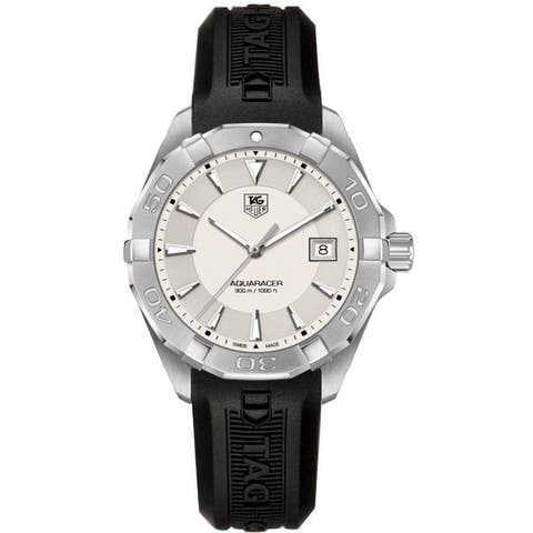 Tag Heuer Men's WAY1111.BT0710 'Aquaracer' Black Rubber Watch