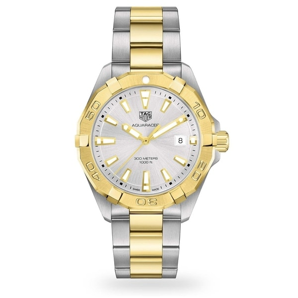 Tag Heuer Men's WBD1120.BB0930 'Aquaracer' Two-Tone Stainless Steel Watch. Opens flyout.
