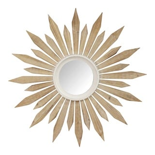 "Link to Stratton Home Decor 30"" Taylor Wood Starburst Wall Mirror Similar Items in Mirrors"