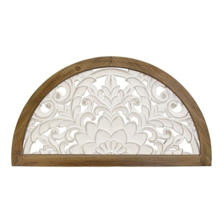 Stratton Home Decor Carved Wood Door Topper