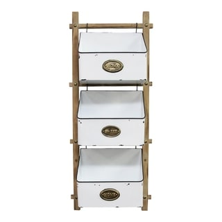 Link to Stratton Home Decor 3 Tiered Farmhouse Basket Similar Items in Accent Pieces