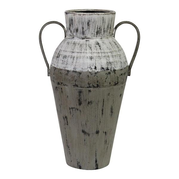 Stratton Home Decor Two Tone Distressed Vase