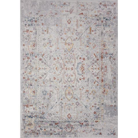 Ladole Rugs Cream Grey Traditional Area Rug For Living Room Hallway Runner Patio Entrance Kitchen Bedroom 4x5, 5x7, 7x9, 8x12