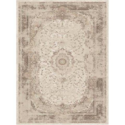 La Dole Rugs Brown Beige Cream Traditional Flat Pile Area Rug Carpet Living Room Hallway Patio Sizes 5x7, 8x10, 7X9 feet